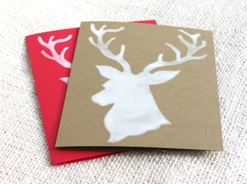 Stag Block Print Cards by Hennel Paper Co.Stag Block Print Cards by Hennel Paper Co.